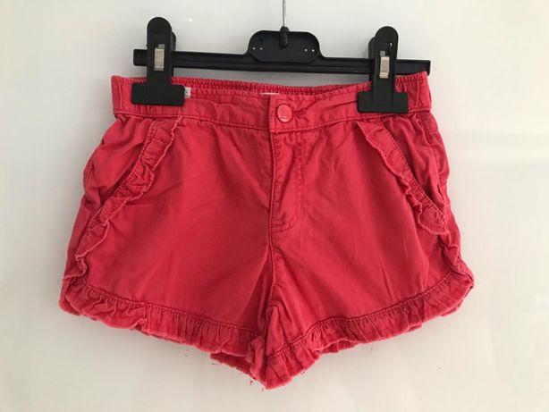 krótkie spodenki, czerwone, Zara girl, rozmiar 104