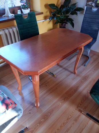 Stół do jadalni kuchni salonu drewniany brązowy rzeźbione nogi