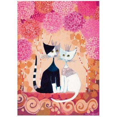 Puzzle Heye 1000 Peças 29658 Romance Cat's - NOVO