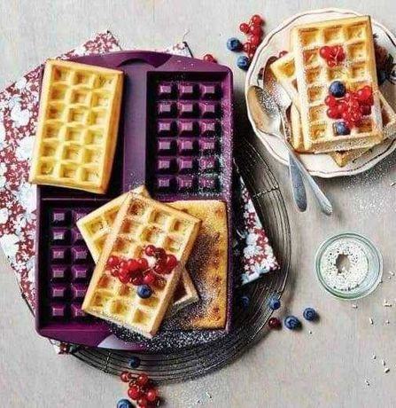 Waffles, toalha de silicone Tupperware