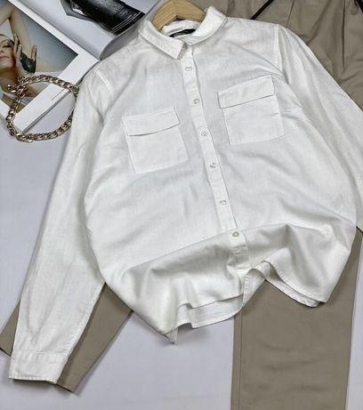 Льняная рубашка фирменная