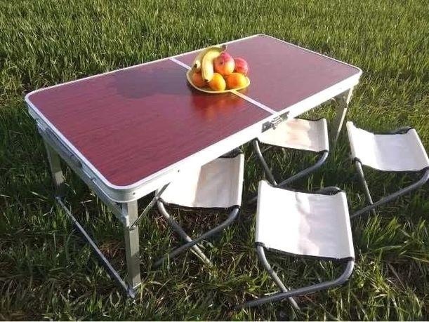 Раскладной Чемодан Стол с 4 стульями Rainberg Для пикника