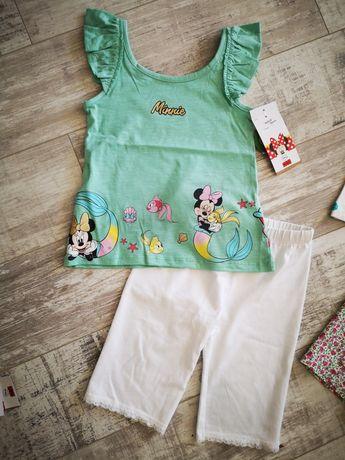 Bluzeczka nowa Disney myszka minnie + legginsy rozmiar 116 /122