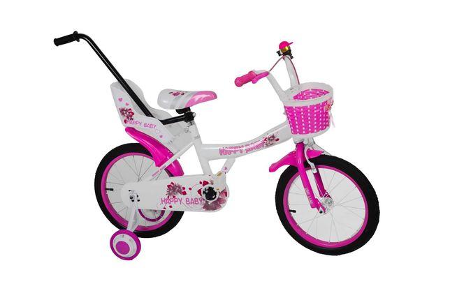 Rower 16 cali happy baby koszyk fotelik dla lal torpedo prowadnik !