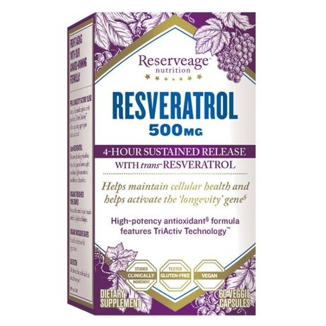 ReserveAge Nutrition Resveratrol Ресвератрол 500мг, 60 капсул США