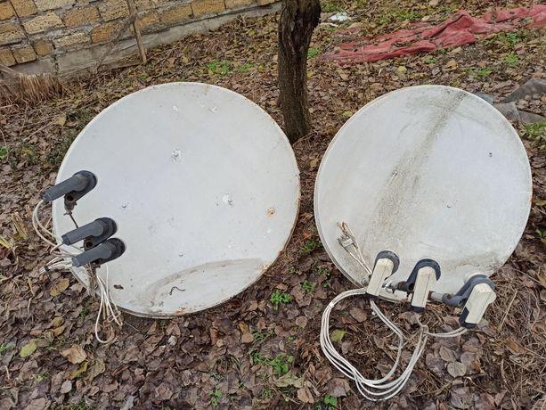 Спутниковые антенны  на 6 спутников, для двух телевизоров