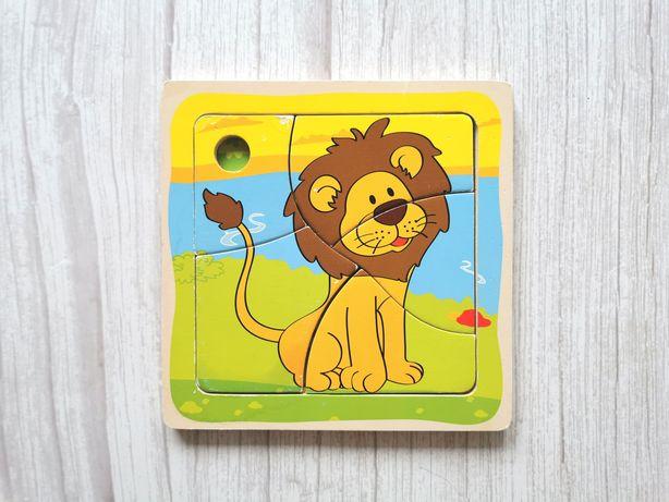 Drewniana Układanka Lew - drewniane puzzle