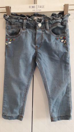 Mayoral spodne jeansowe dżinsowe r. 86