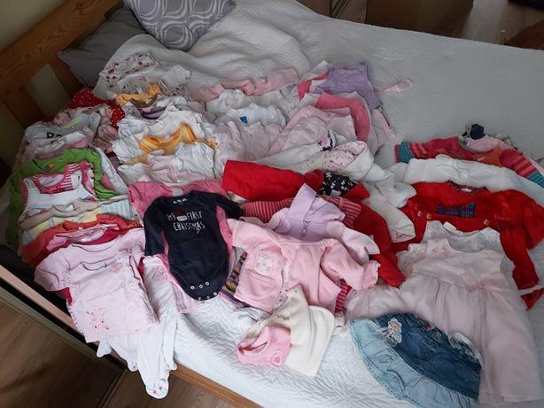 duza paka ubran 56-74 dla dziewczynki