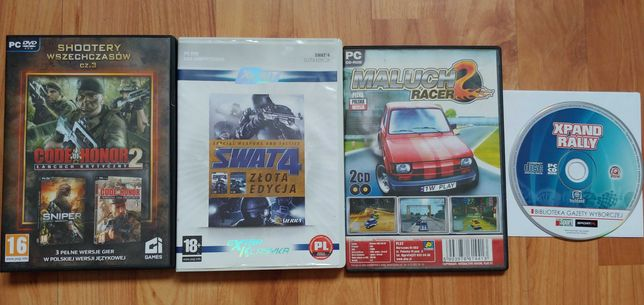 Gry PC: SWAT 4, Maluch racer, Code of honor, Xpand Rally
