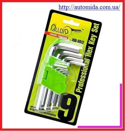 Набор ключей шестигранных, Torx Alloid, набор авто ключей 9 шт.