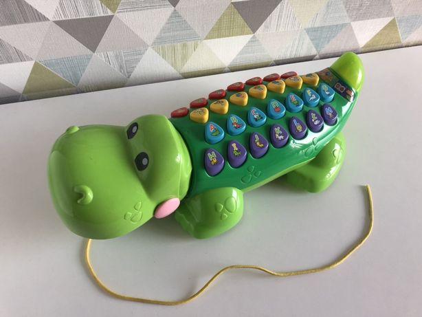 Interaktywny aligator, krokodyl edukator literkowy