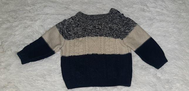 Elegancki sweterek z bawełny 62 20zł