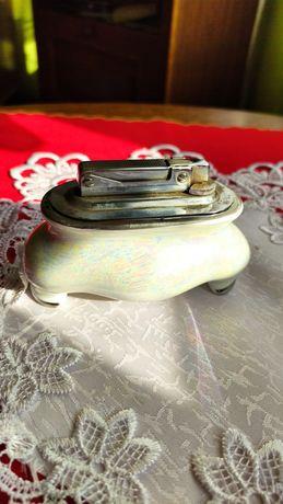 PRL zapalniczka stołowa porcelanowa