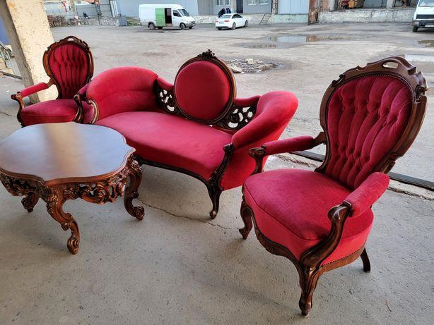 Дубовый диван кресло барокко Франция