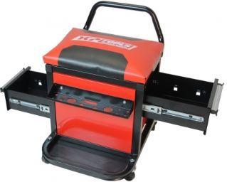 Assento / Banco de mecânico /garagem com 2 gavetas e painel ferramenta