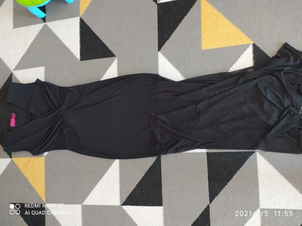 Czarna wieczorowa maxi sukienka