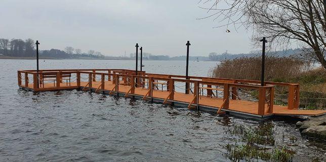 Pomost Pływający Platforma Wyspa Rower wodny molo Skuter wodny Jacht