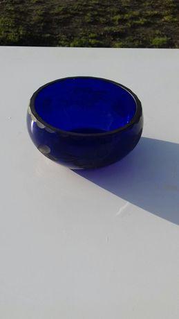 Miseczka/salterka/szkło/kryształ/kolor kobaltowy/niebieski