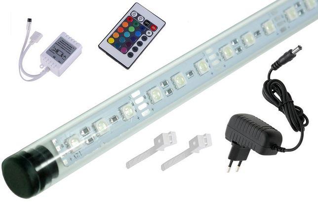 Świetlówka LED RGB oświetlenie akwarium pilot 16 kolor 50cm I