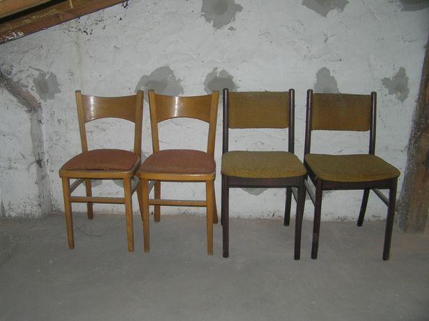 Stare krzesła/krzesło szt 4 czasy PRL-u