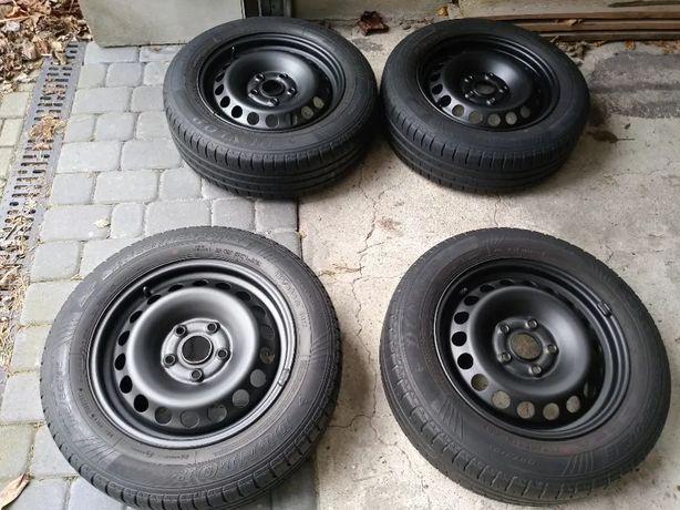 Komplet kół letnich VW SKODA 15 cali 5x112 opony 185/65/R15 DUNLOP