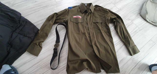 Mundur harcerski , zhr zhp , czapka pas koszula M , męski,  chłopięcy