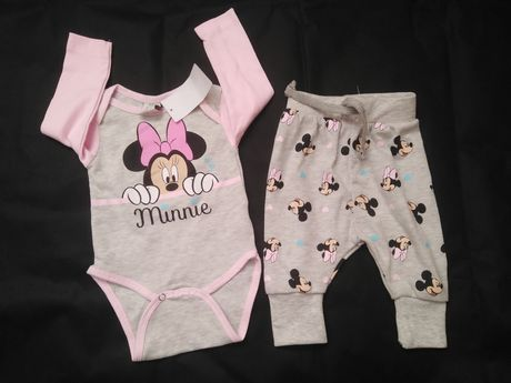 Nowy komplet niemowlęcy z Minnie 68 cm
