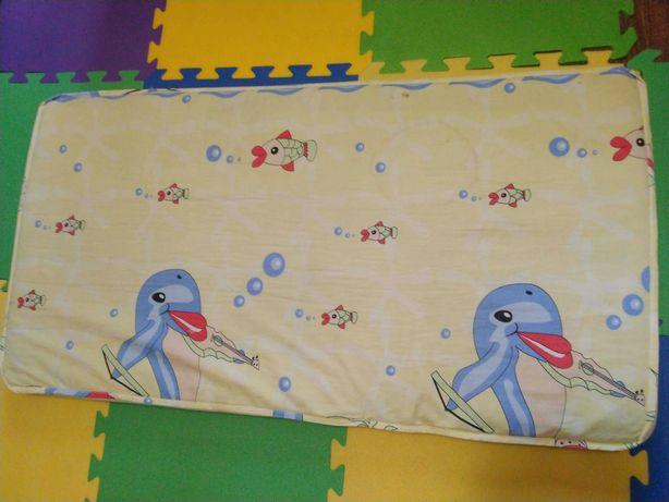 Продам детский матрас в кроватку, манеж, размер 120*60, Кокос
