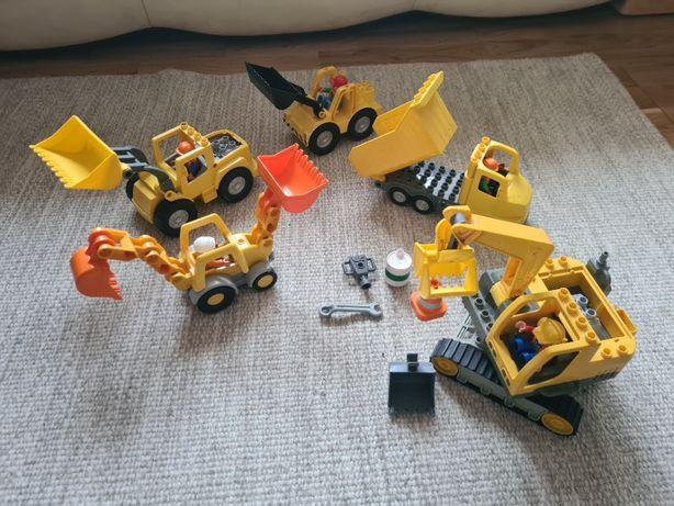 Lego Duplo koparka spychacz wywrotka maszyny budowlane