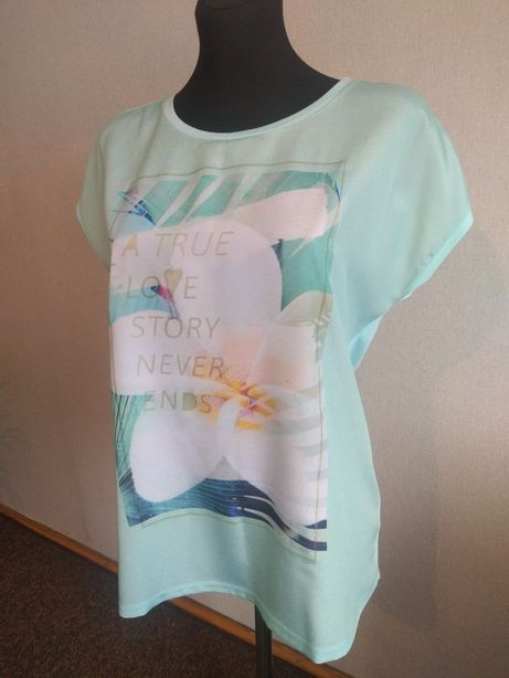 Miętowy t-shirt firmy TROLL r. L