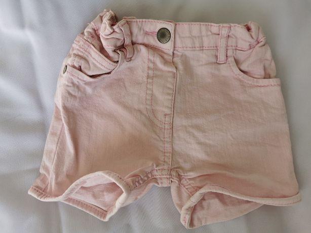 Różowe szorty jeansowe PRENATAL rozm. 92