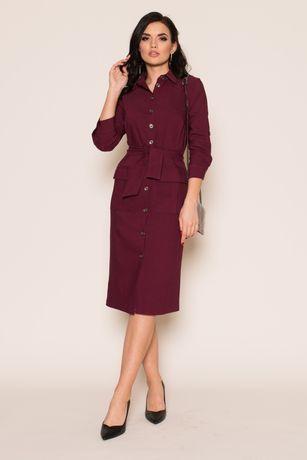 Платье женское на пуговицах , рубашка с карманами 46