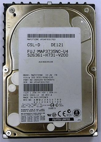 Серверный HDD 73,5Gb c корзиной (салазкой) HP ProLiant DL385
