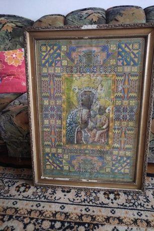 Obraz Matka Boska Częstochowska stary do renowacji