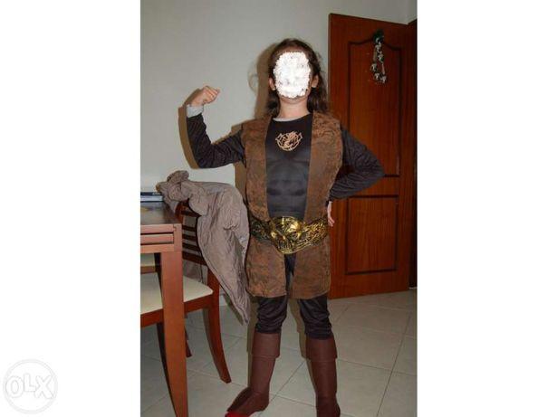 Impecável fato de carnaval hallowen festas vestido guerreiro