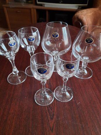 Чешское Богемское стекло-бокалы на ножке 450мл.250мл.150мл.