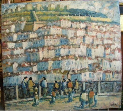 Quadro a óleo de Manuel Gregório Pereira Lisboa Lisbon grande