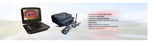 Odtwarzacz DVD Telewizor przenośny DVB-T Cute9 12V