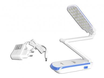 Nowa składana lampka biurkowa w kolorze niebieskim