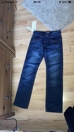 Jeansy damskie 100% bawełna regular waist