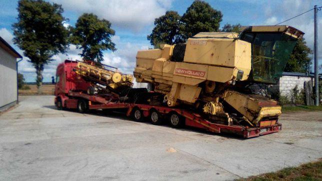 transport kombajnów koparek maszyn niskopodwozie laweta ponadgabaryt