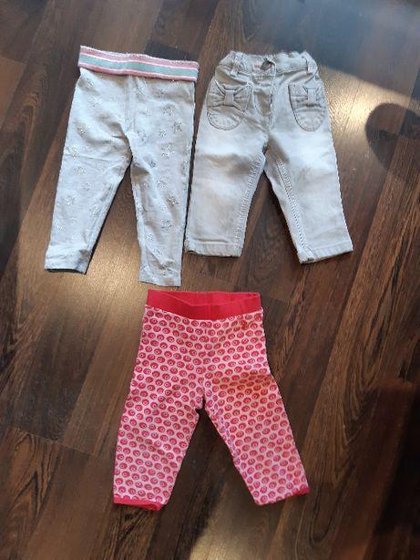Spodnie, rozm. 74-80 dla dziewczynki