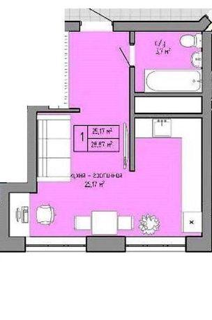 Продам 1 комн квартиру в новом доме на Таирова