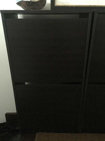 Sapateira IKEA BISSA c/2gavetas castanho / preto