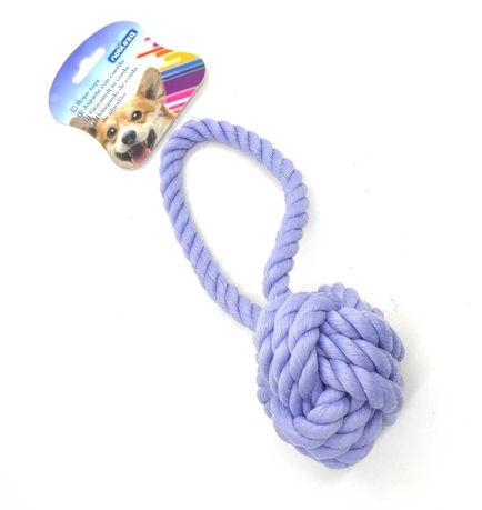 ZABAWKA dla psa sznur WĘZEŁ supeł szarpak gryzak niebieski 18 CM aport