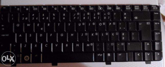 Teclado HP DV2000 Ediçao especial em preto brilhante como novo