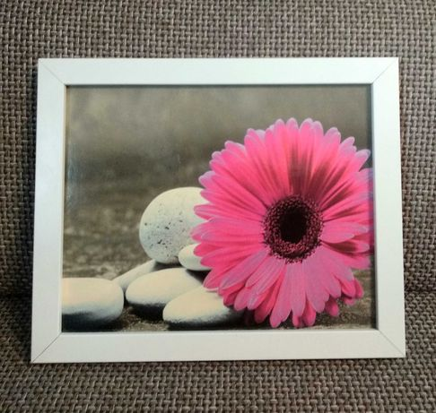 Fotoobraz Relaks obrazek obraz z kamieniami i kwiatem