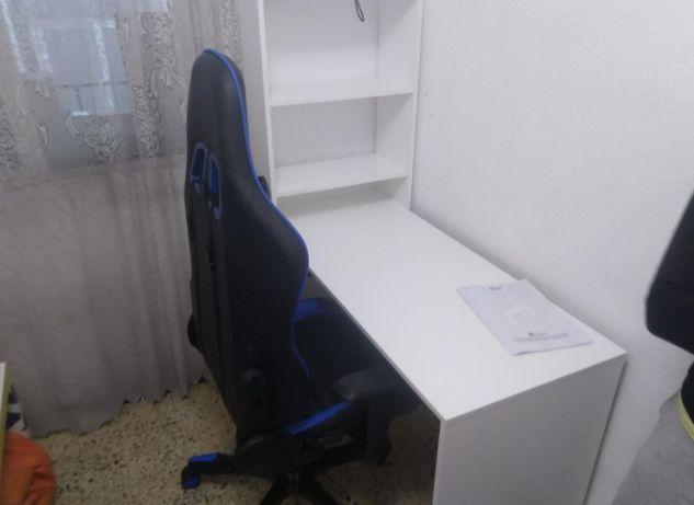 Mesa de escritório com prateleira reversível (NOVA)