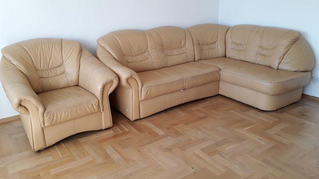 Narożnik skórzany fotel ze skóry kanapa skorzana sofa rogowka
